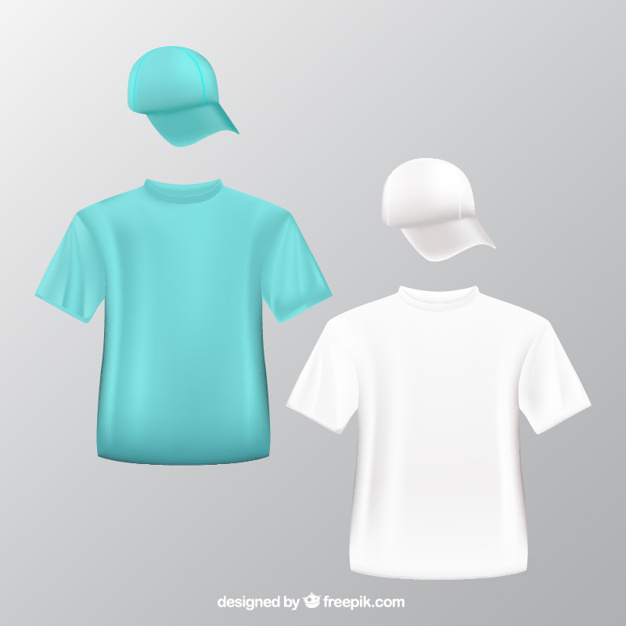 T-Shirt And Round Hat Illustration