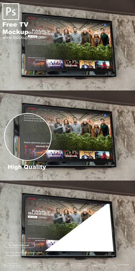 Free LED TV Mockup PSD Template