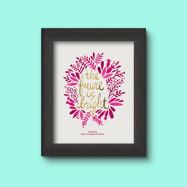Thick Frame Poster With Floral Pattern Printed On It