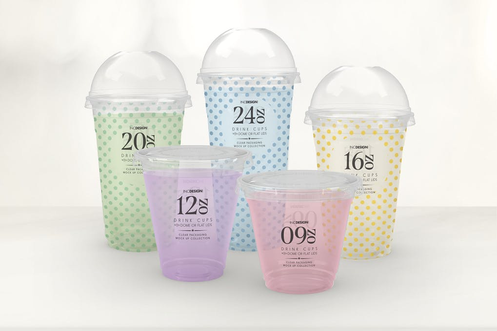 Transparent Clod Drink Cup PSD Files