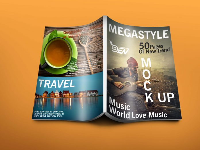 Travel Blog Magazine Mockup PSD Design