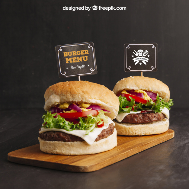 Two Burger side by side Design