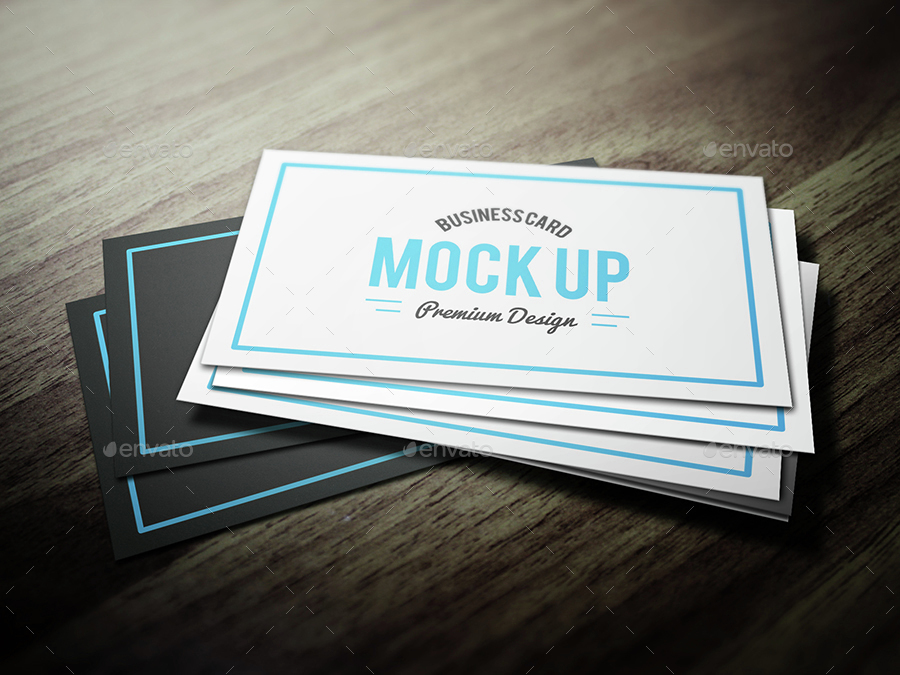 Two Color Business Card Mockup Design