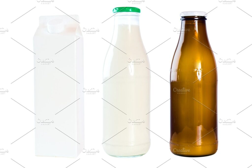 Two Milk Carrying Bottle With Slim Lid On it