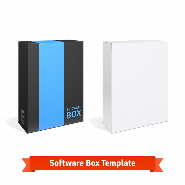 Two Software Box Vector File Illustration