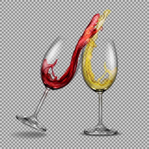 Two Wine Glass Clinking Scene Vector File