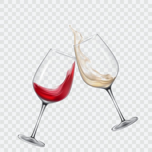 Vector File Illustration of Two Wine Glass Mockup