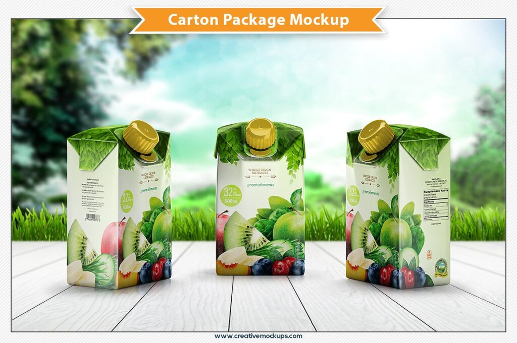 Vegetable Juice Box Template Design new Style