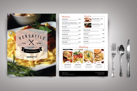 Versatile Restaurant Menu Card PSD customizable template