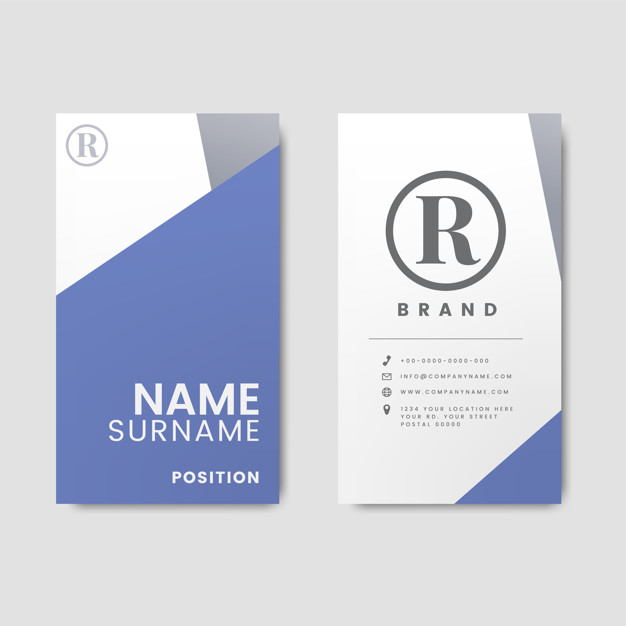 Vertical Business Card Mockup Featuring Name Section Bottom
