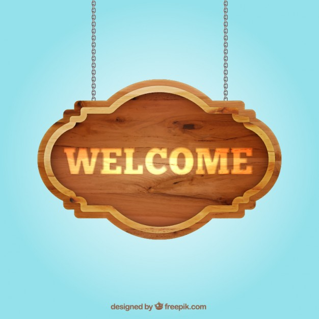 Wall Hanged Designing Wooden Board Vector Illustration
