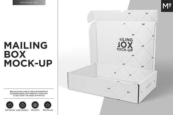 White Color Open Mailing Box