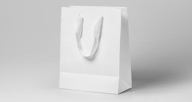 White Paper Shopping Bag PSD: