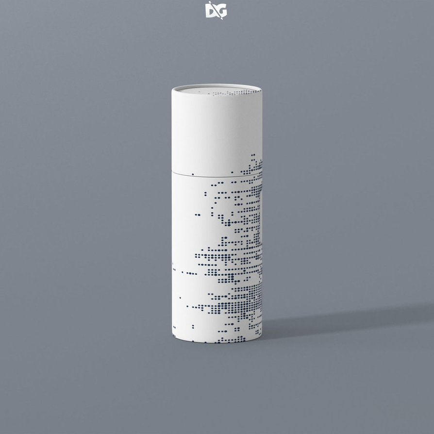White Spray bottle with Cover Mockup