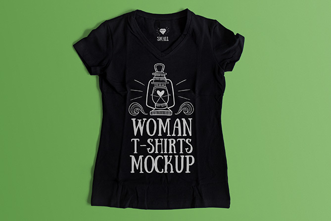 Women Quotes Written Black T-shirts Mockup on Hanger
