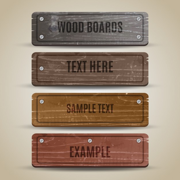 Wooden Board Mockup Set