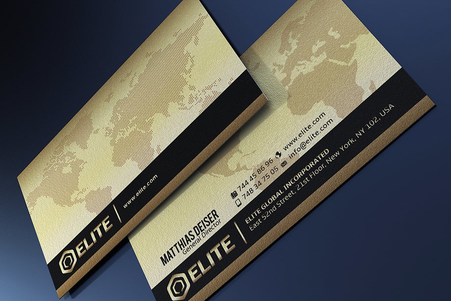 World Map Printed Business Card