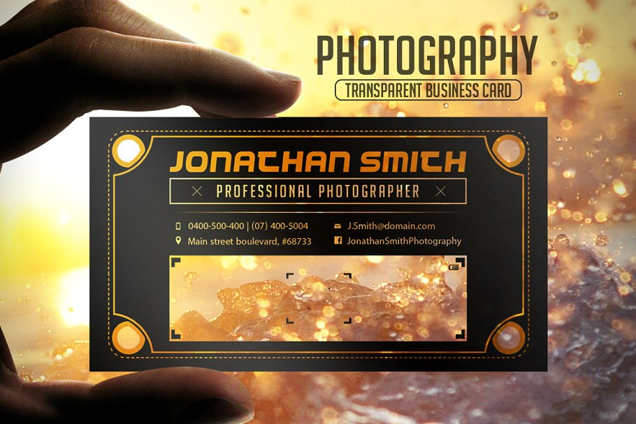 Yellow And Black Color photography Business Card Set