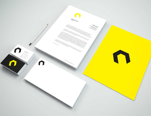Yellow Color Set Stationery and Indentity Mockup PSD