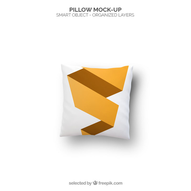 Yellow Stripes Free Pillow Mockup Design