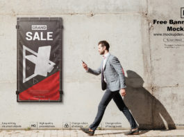 Free Banner Mockup PSD Template