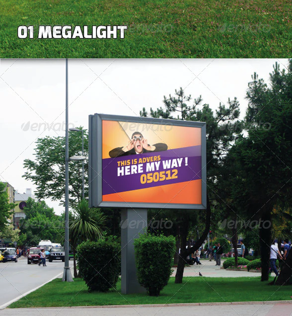 Mockup For Outdoor Advertising Displays
