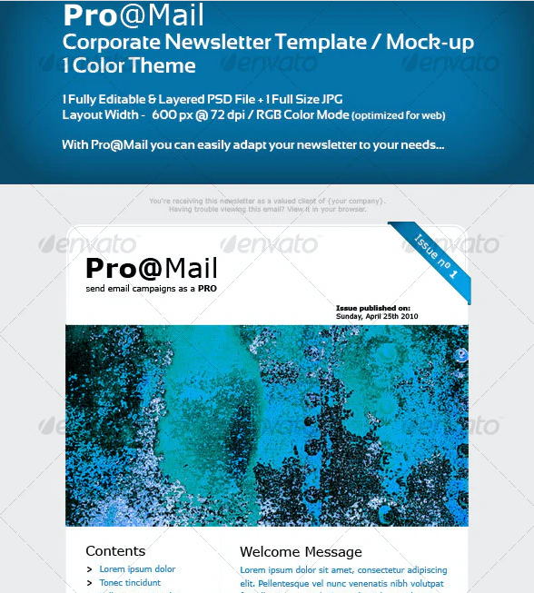 Corporate Newsletter Template / Mock-up