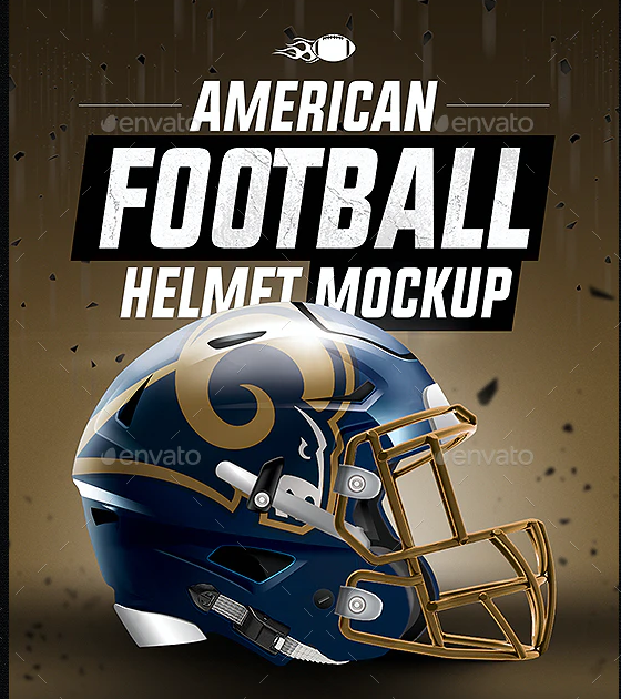 Football Helmet Mockup