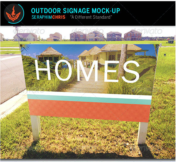 Outdoor Signage Mock Up Template