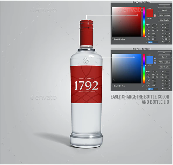 Realistic Liquor Bottle Mock-up
