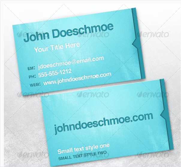 Smooth Texture Letterpress Business Card