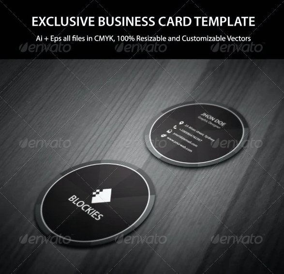 Exclusive Circle Business Card