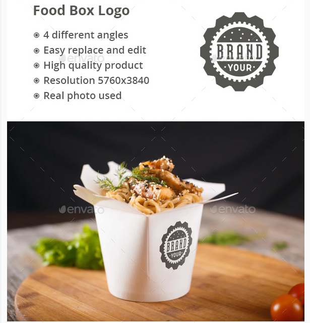 Food Box Logo Mock-up