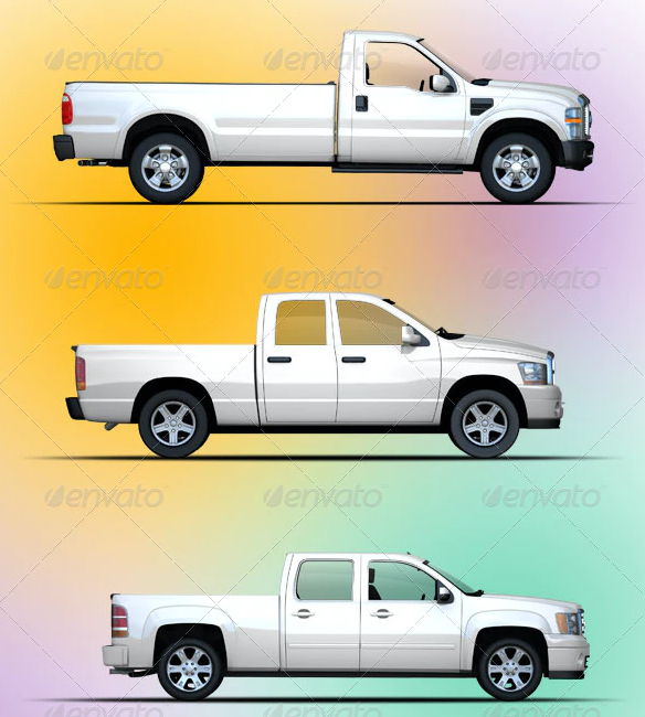 Mock-up For Pickup & Truck Vehicles