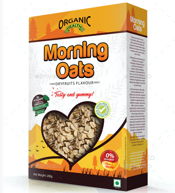 Oats / Cereal Packaging Template Vol-02