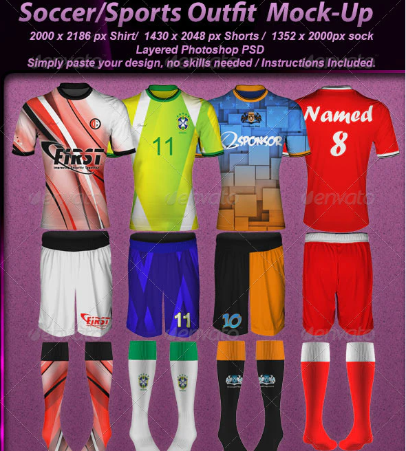 Photorealistic Soccer Outfit Mock-up