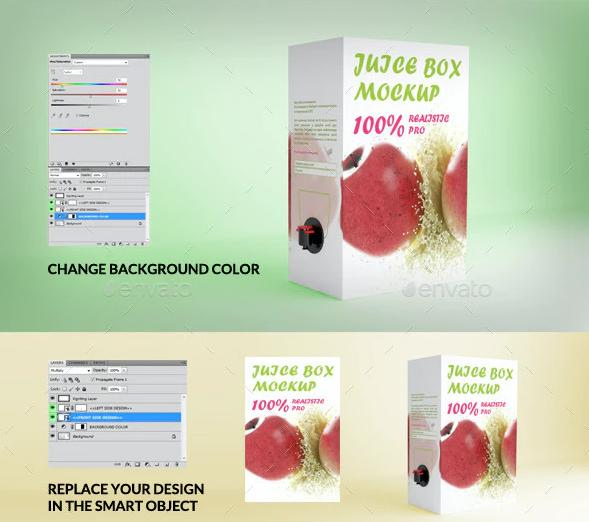 Juice Box Mock-up