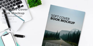 Free Soft cover Book Mockup PSD Template