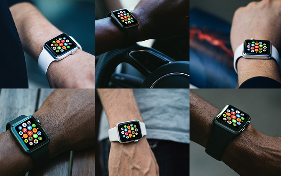 16 PSD Apple Watch Design Template