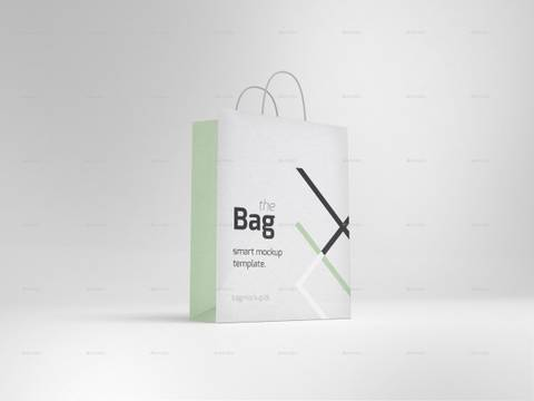 5 Photorealistic Shopping Bag Mockups