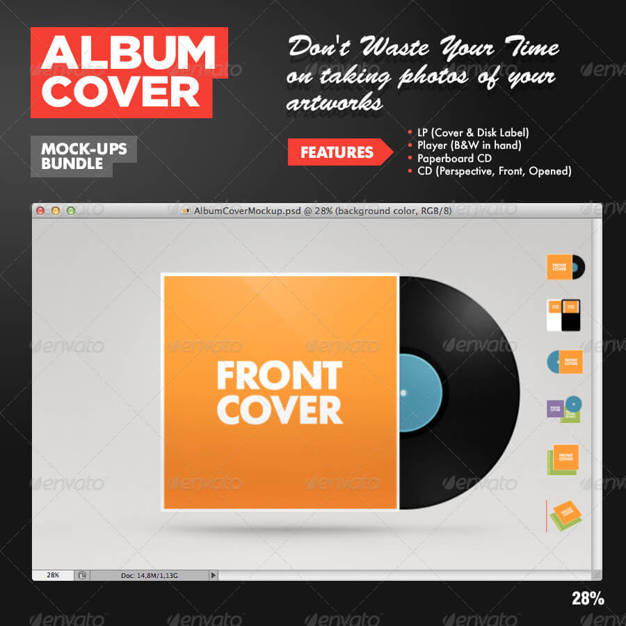 Album Cover Mock-Ups Kit