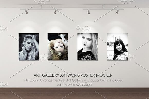 Amazing Art Poster Gallery Mockup