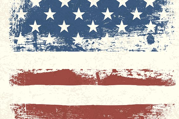American vintage flag background