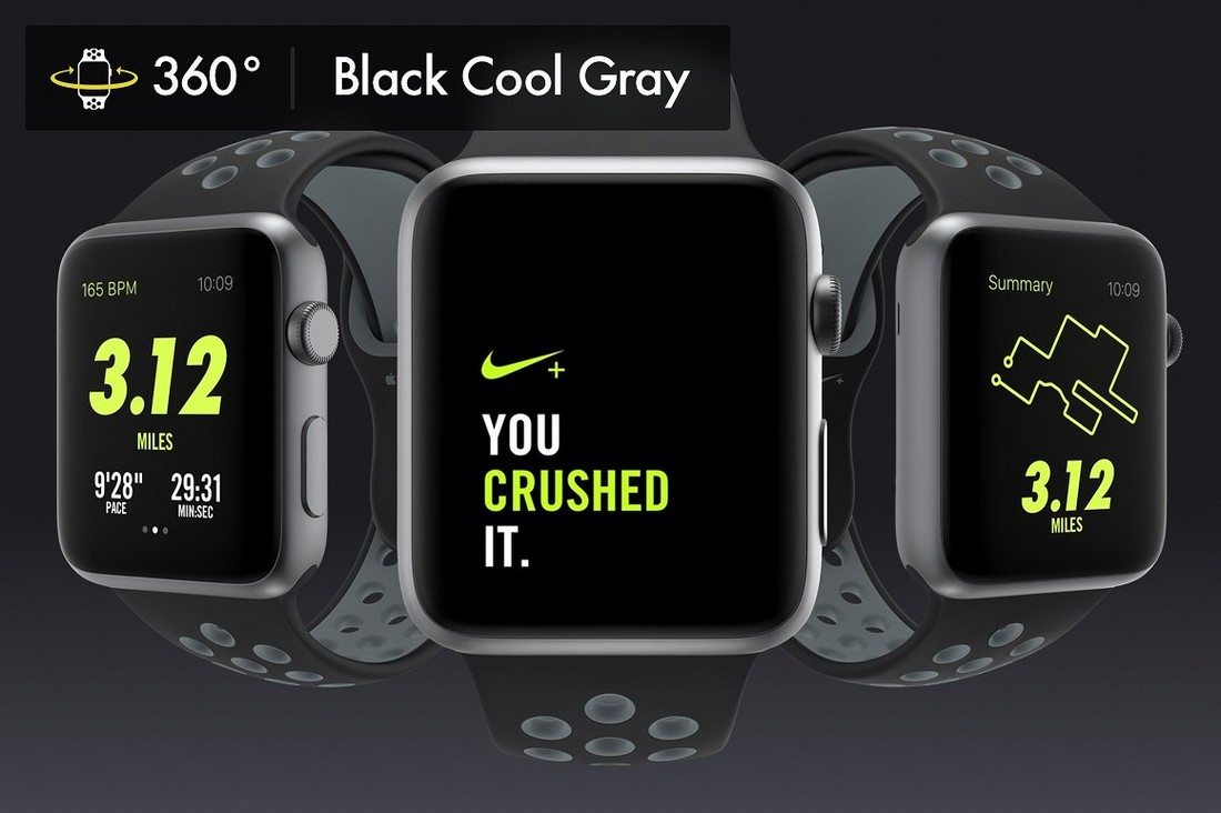 Apple Cool Design Sports Watch PSD in Customizable Background