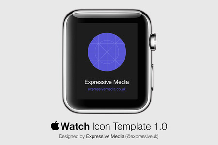 Apple Watch Template and Mockup PSD