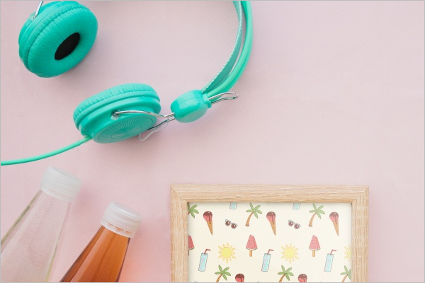 Attractive Color Headphone PSD