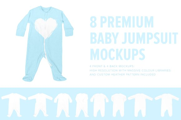 Baby Jumpsuit Mockup PSD