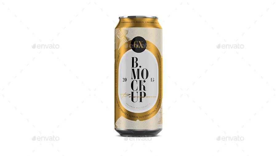 Beer/Soda Can Mockup Larger