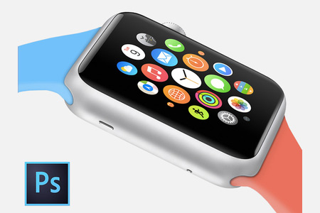 Bi Color Apple Sports watch Design Template