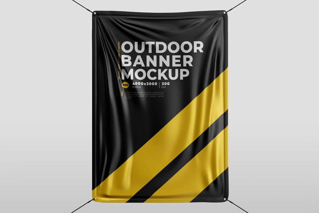 Bi-Color Outdoor Hanging Banner Template